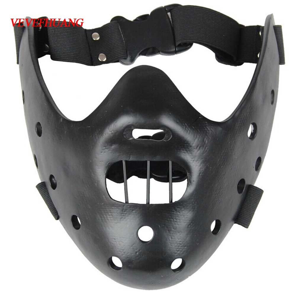 VEVEFHUANG Film Movie The Silence Of The Lambs Hannibal Lecter Resin Masks Masquerade Halloween Cosplay Dancing Party Props Half