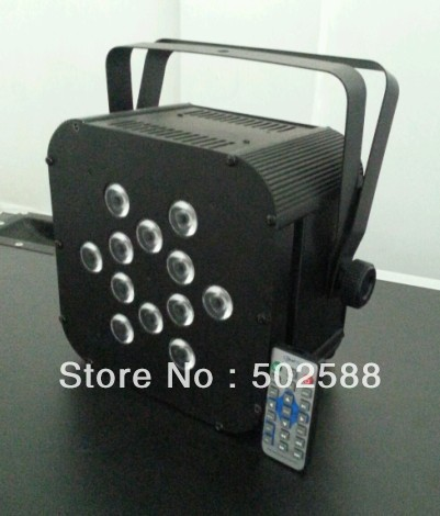 wholesale 12*15w 5in1 RGBWA IR remote control wireless dmx battery powered led flat par can wedding lighting 6pcs/fly case