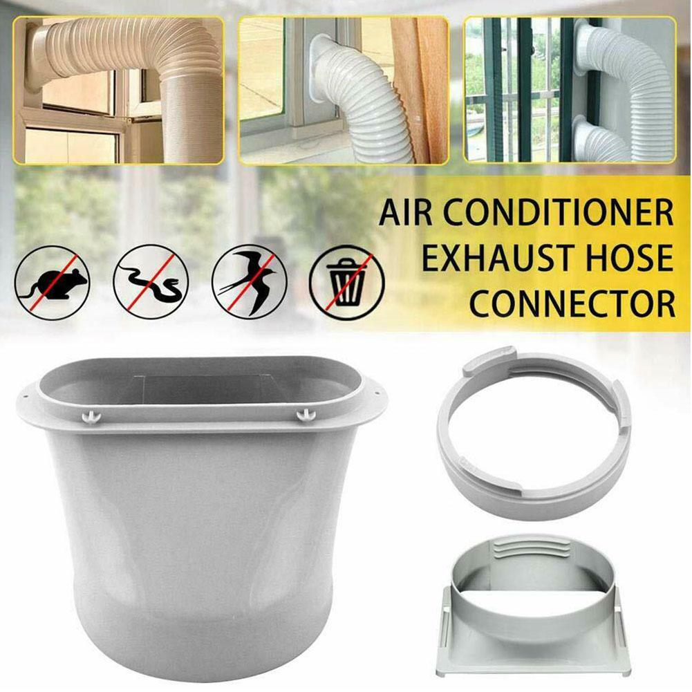 Air Conditioner Window Pipe Interface Exhaust Hose Tube Connector Heating Cooling Vents Ventilation Exhaust Outlet Grille Cover