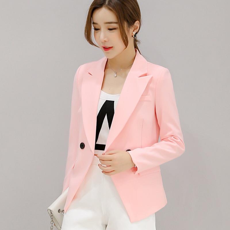 2019 spring autumn new short Wild small suit women's Korean suit women Slim lapel long-sleeved slim female coat blazer femme XXL