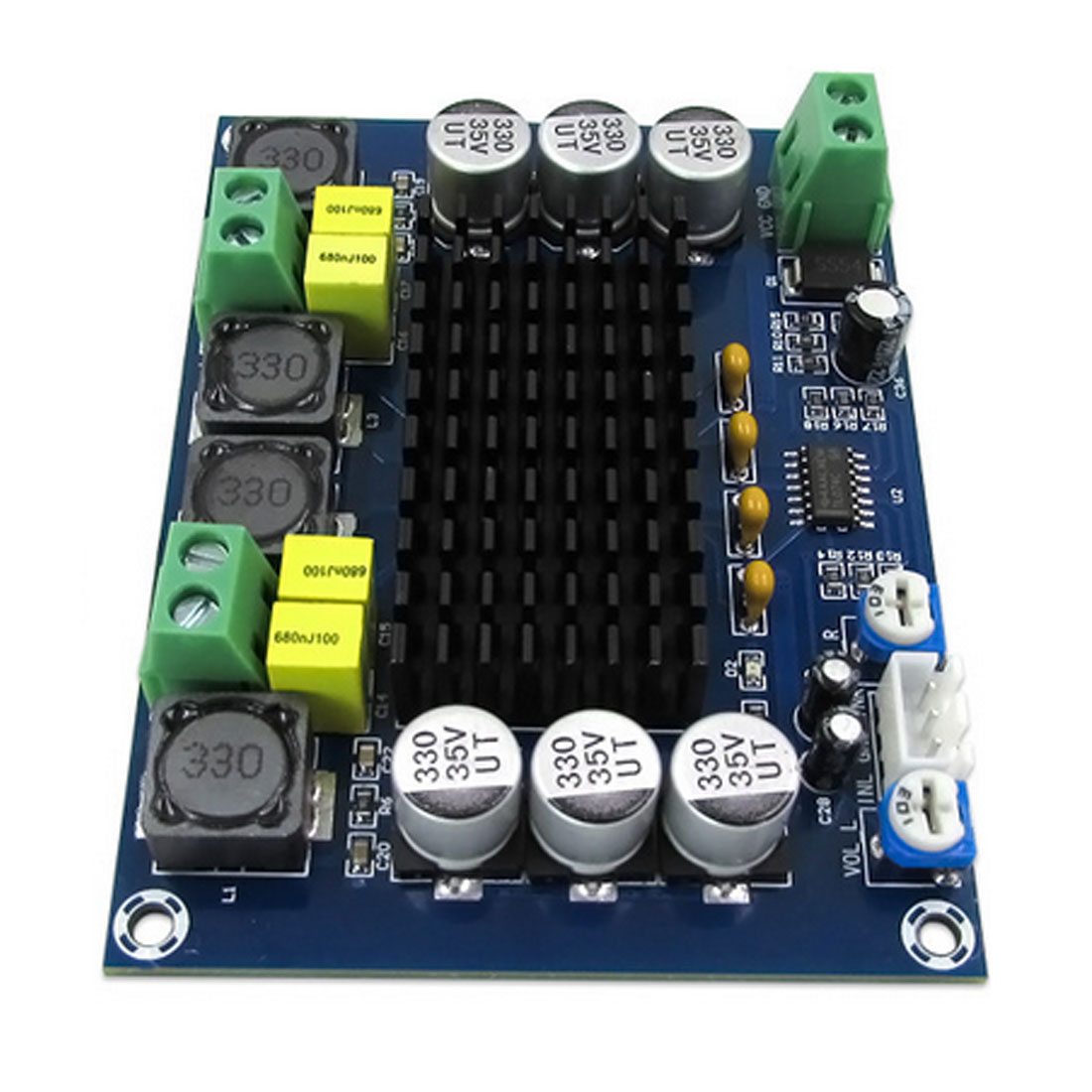 Marsnaska Brand New Top Quality DC 12V 24V <font><b>120W</b></font>*2 TPA3116 D2 Dual Channel Digital Power Audio <font><b>Amplifier</b></font> Board image