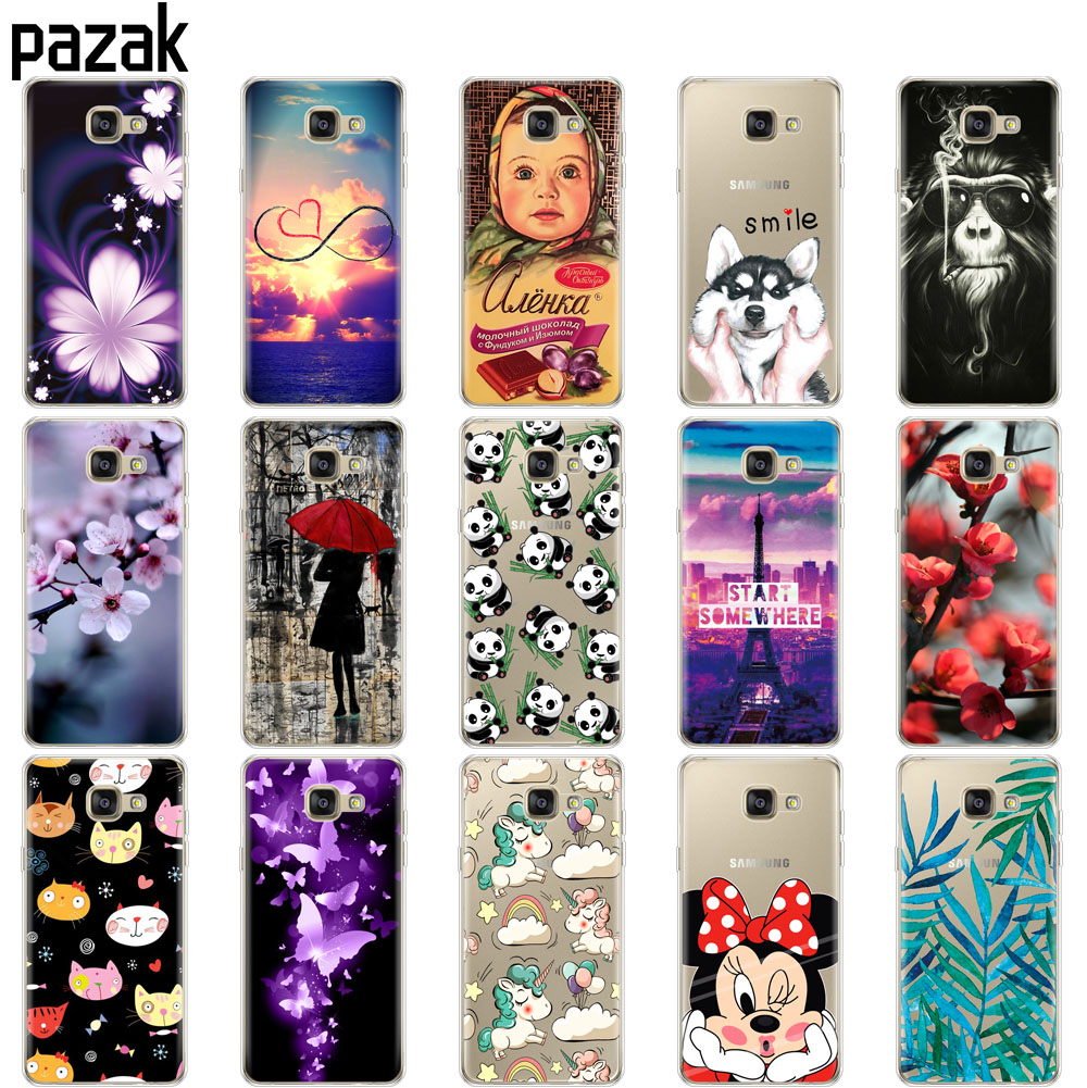 Silicone case For Samsung Galaxy A7 2016 A710F A710 SM-A710F Case soft TPU Back Cover Capa For Samsung A7 2016 A7 6 Phone Cases