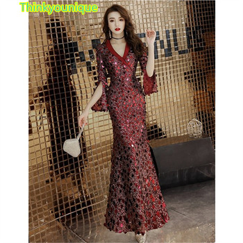 Party Gown Formal Long Evening dresses vestido de festa longo robe de soiree vestidos de novia abendkleider Mermaid dress SM026