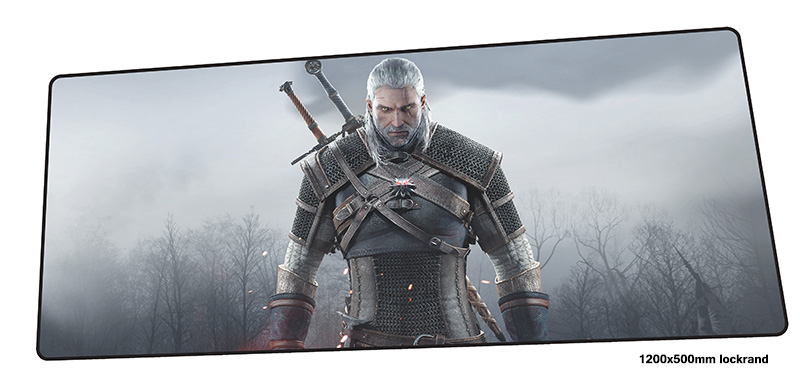 witcher mouse pad gamer Christmas gifts 120x50cm notbook mouse mat gaming mousepad large Xl pad mouse PC desk padmouse rubber mouse pad mat black