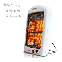 220V Eu Plug Portable home office Electronic Heater 300/600W Electric Fan Heater Adjustable Thermosta Electronic Heater