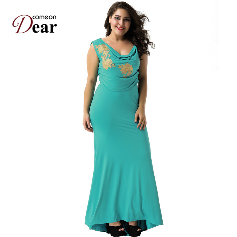 Comeondear Buy-direct-from-china Mermaid Green Dress Vestido De Verao Runway Dresses 2017 Women High Quality VB10751 Robe Longue