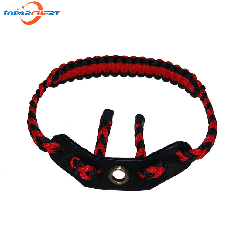 Archery Compound Bow Adjustable Braided Nylon Cord Bow Wrist Sling Strap for Hunting Shooting Target Practice Sports Accessories