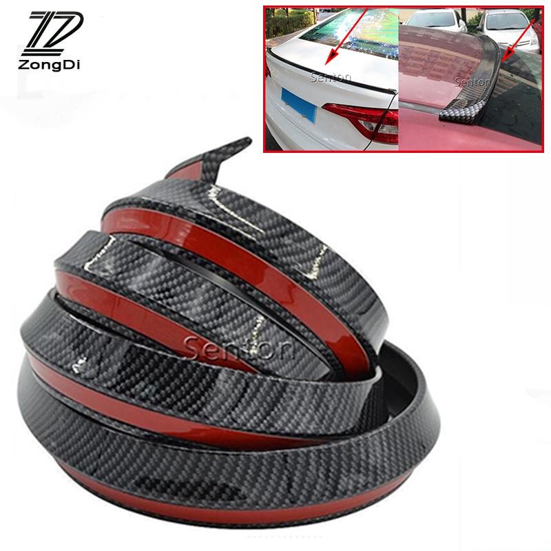ZD Amortecedor Traseiro de Carbono Frente Lip Spoilers de Proteção Da Cauda Do Carro Para Mercedes W203 W210 W211 W204 Benz BMW F10 F20 E30 E34 X5 E70