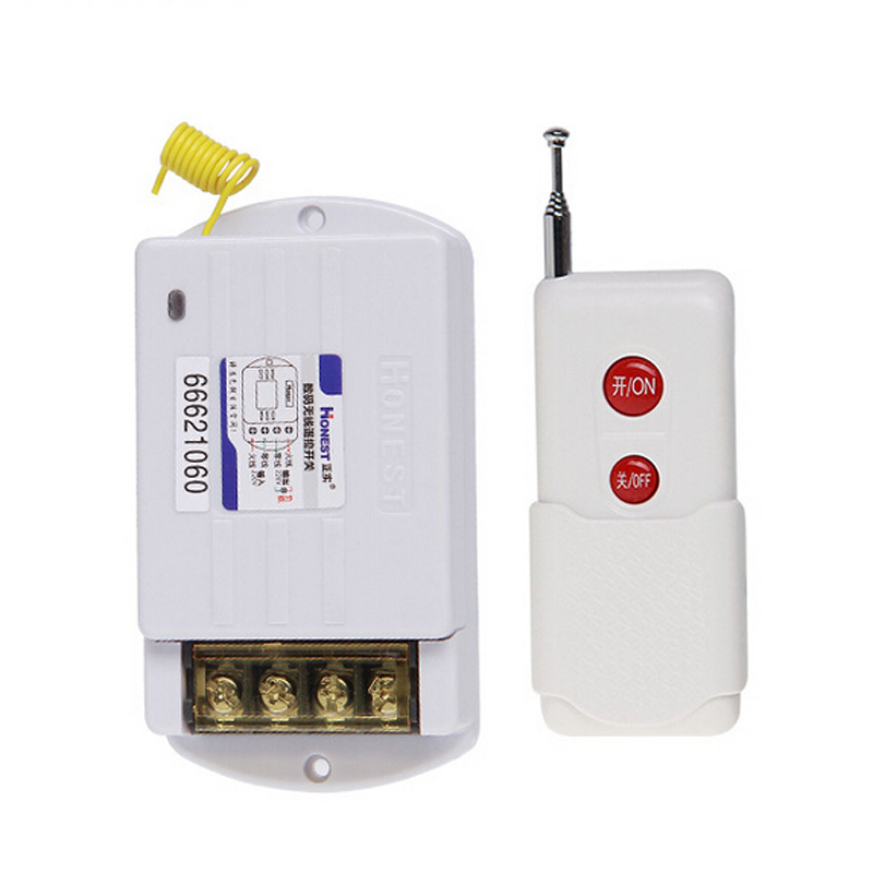 Hot Sale 1000m Long Distance 380V Wireless Remote Control Switch with 1 Controller For Agricultural Watering,Water -pump 315mhz binge elec 16 buttons remote controller 433 92mhz only work as binge elec remote touch switch hot sale