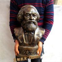 large School office ROOM TOP decorative art # Marxism Communism revolutionary socialist Karl Marx bronze Portraits statue