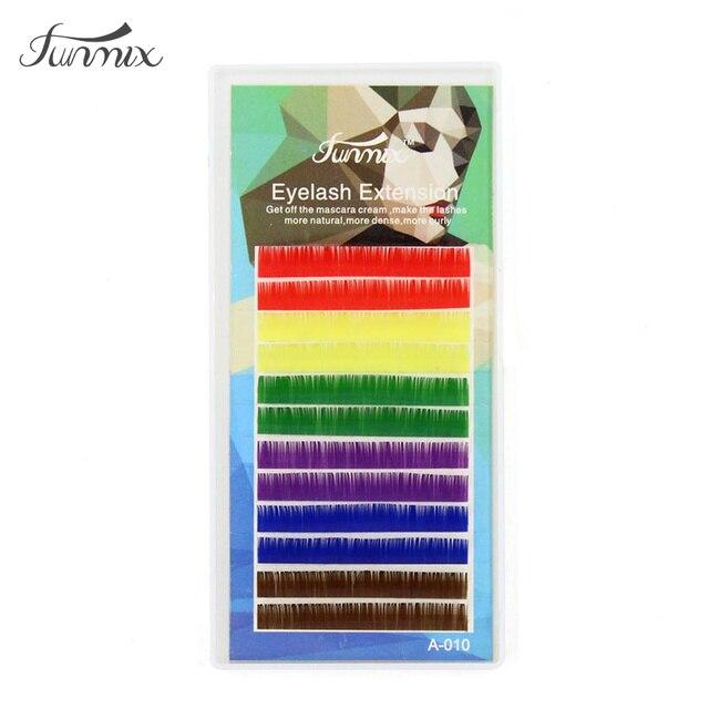 Marca 0,1 C D individual mezcla de colores pestañas natual suave Color caramelo pestañas falsas extensión ojo maquillaje colorido pestañas postizas