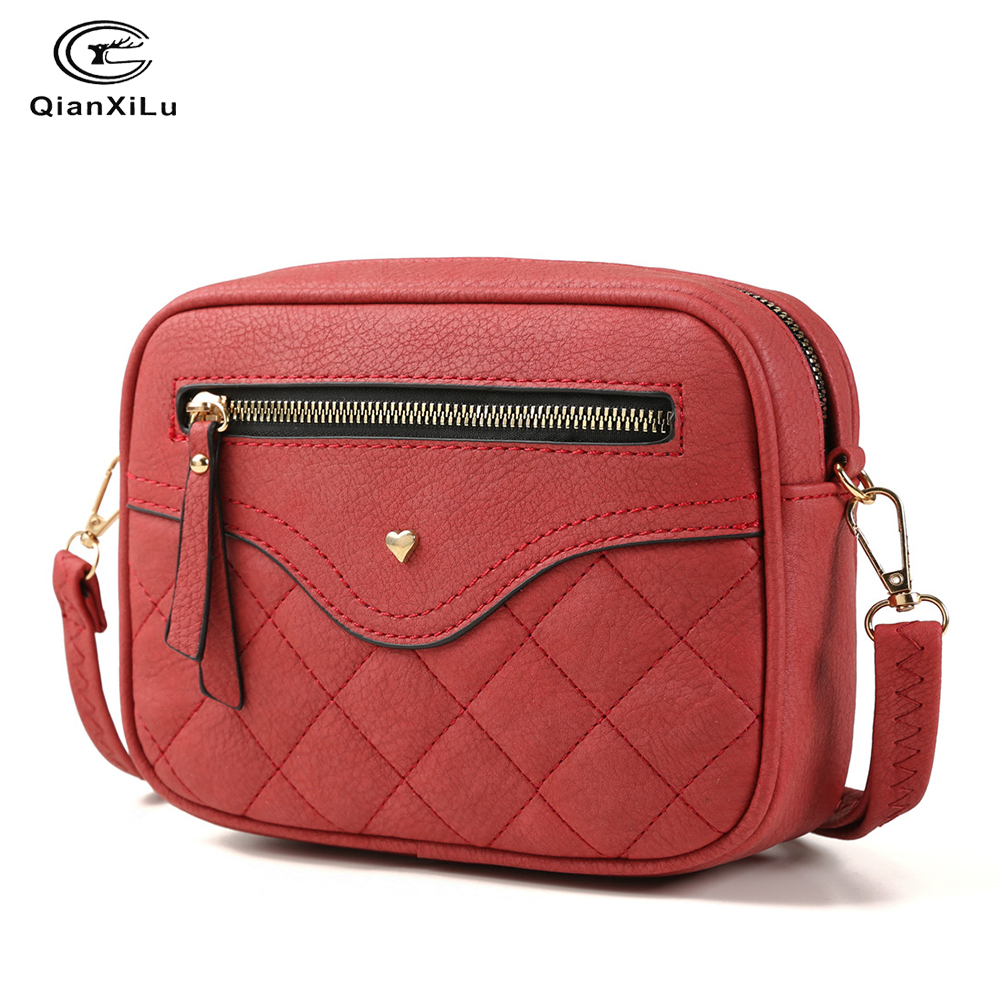 QIANXILU Hot Fashion Crossbody Bags For Women 2019 High Capacity Shoulder Bag PU Leather Handbag Female Zipper Messenger Bags