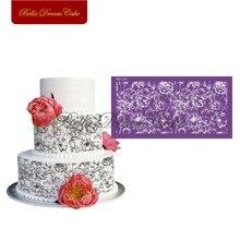 Penoy Flower Design Cake Stencil Fondant Mesh Stencils for Wedding Cake Mold Fabric Cake Mould Cake Decorating Tool Bakeware