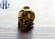 Japan Warrior Knife Bead Brass Pure Copper Retro Accessories Pendant DIY Decorative Giant Umbrella Rope EDC Multi Tools