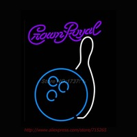 Crown Royal Bowling Neon Sign Store Display Handcrafted Neon Bulbs Real Glass Tube Neon Bar Signs