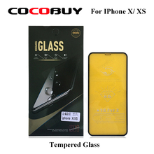 1pc Full Coverage 6D Tempered Glass protection  for iPhone X/ XS - Black