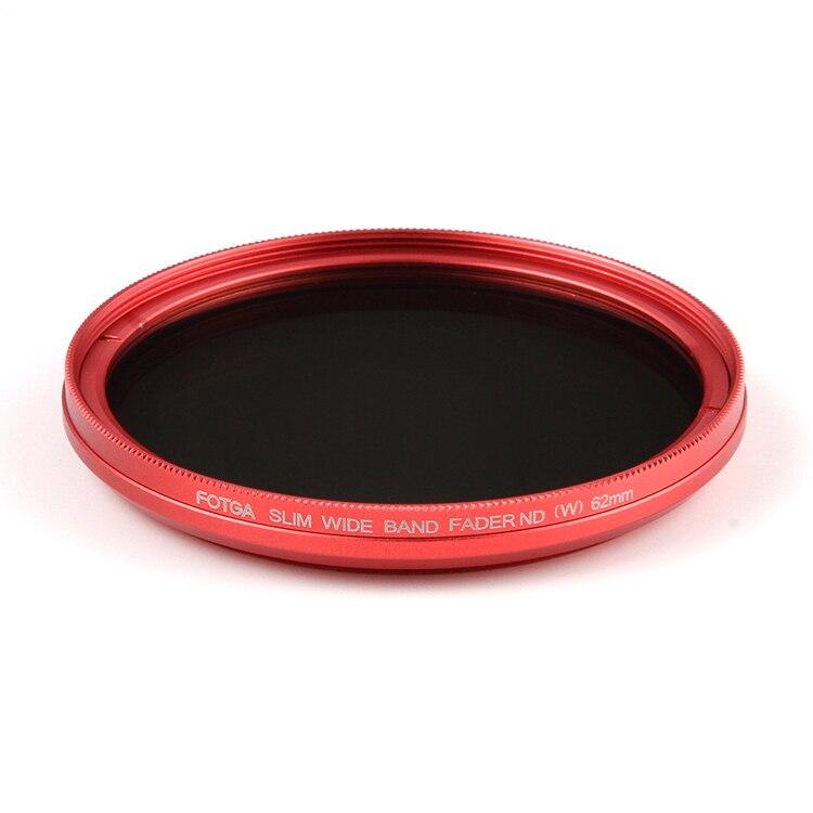 Fotga 40,5 43 46 49 52 55 58 62 67 72 77 82mm schlank fader ND-filter einstellbar variable neutral density ND2 zu ND400 für kamera