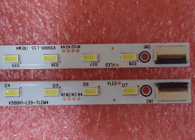 Led Lighting Led Bar Lights Amicable 2 Pieces/lot V500hk1-ls5 Led Strip V500h1-ls5-tlem4 V500h1-ls5-trem4 28 Leds 315mm