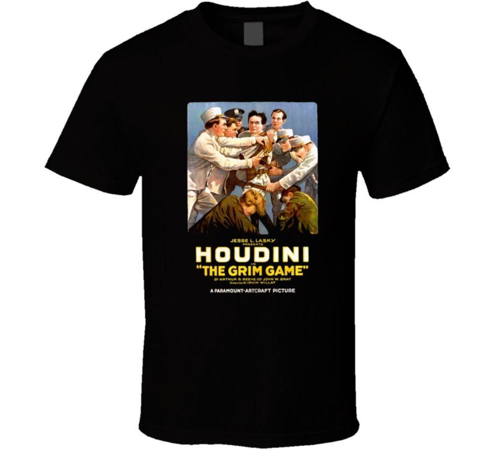 Houdini, The Grim Game, T-shirt, Magician, Movie, Harry, Magic