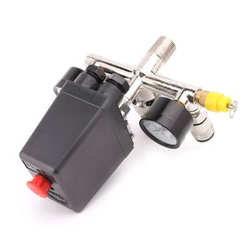Air Compressor Pressure Control Switch Valve 0.5-1.25MPa With Manifold Regulator & Gauges qiang