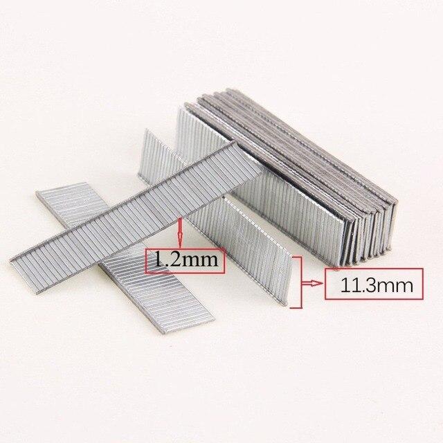 1000Pcs/pack F10 Staples 10mm Length Rustproof Nails For Framing Tacker Electric Nails Staple Gun Accessories Carpenter Tool