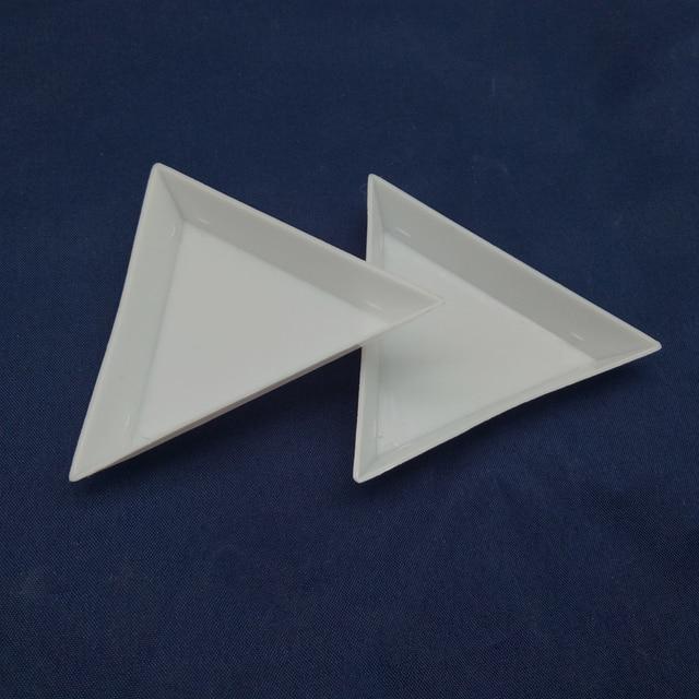 Queenme 2 шт. DIY Дизайн ногтей украшения расставить пластик Кристалл треугольный лоток горный хрусталь алмаз Stotrage Plaste Маникюр Инструменты