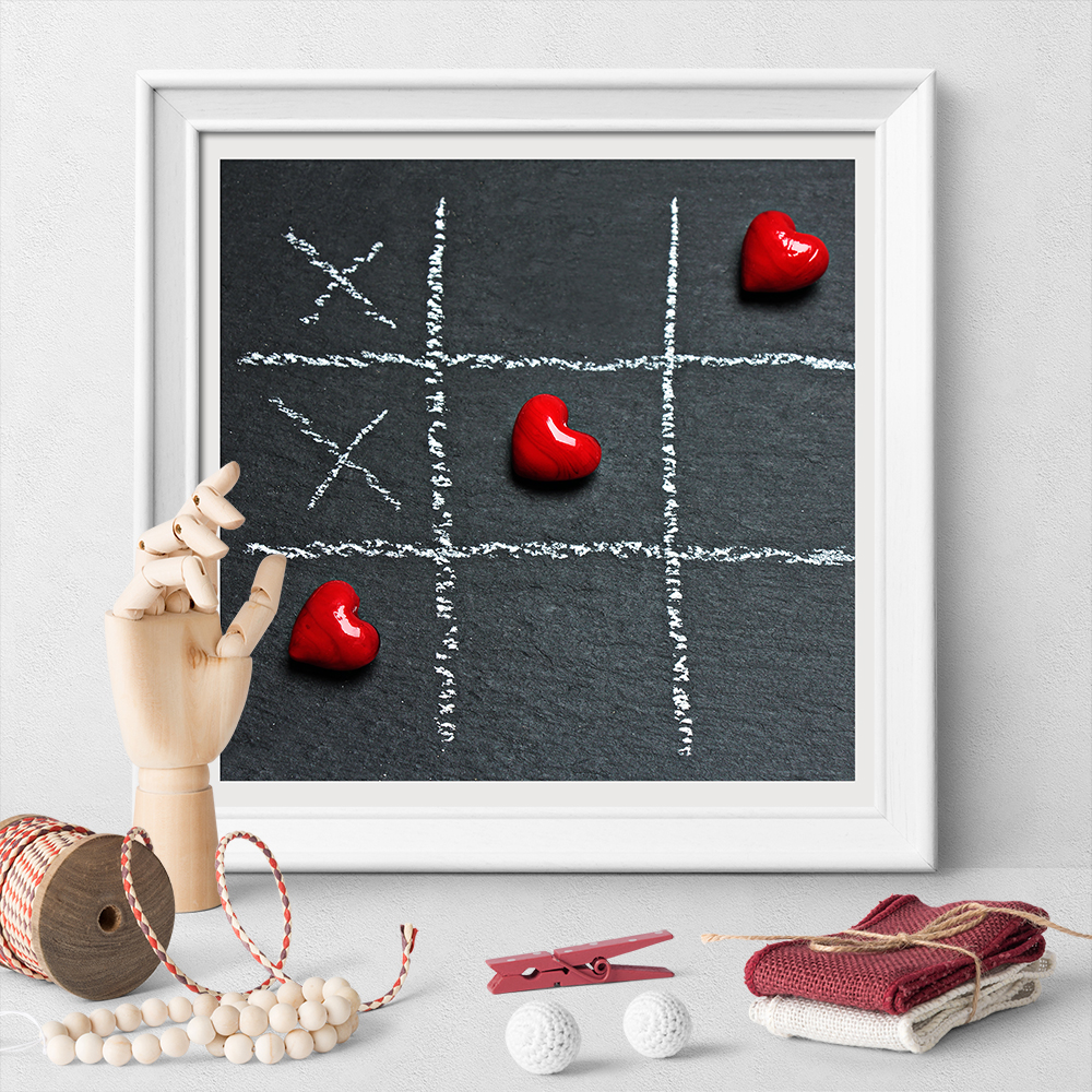 Love Heart Strategy Game Canvas Painting Poster And Print Wall Art Poster For Living Room Decoration No Frame