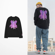 New Fashion Graffiti X Letter Print T Shirt Long Sleeve Men Skateboard High Street Men T Shirts Hip Hop Harajuku Vintage T-shirt