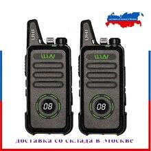 2 قطعة WLN KD C1 زائد جهاز مرسل ومستقبل صغير UHF 400 470 MHz مع 16 قنوات اتجاهين راديو FM جهاز الإرسال والاستقبال KD C1plus