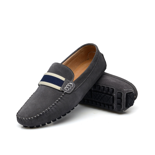 GOXPACER Autumn New Men Shoes Casual Shoes Loafers Soft Sole Flat Heel Shoes Men Round Toe Nubuck British Style Lazy Flats