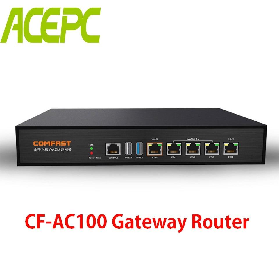 CF-AC100 Gigabit AC Passerelle D'authentification Routage MT7621 880 Mhz Multi WAN Charge Équilibre Core Passerelle Wifi Projet Routeur