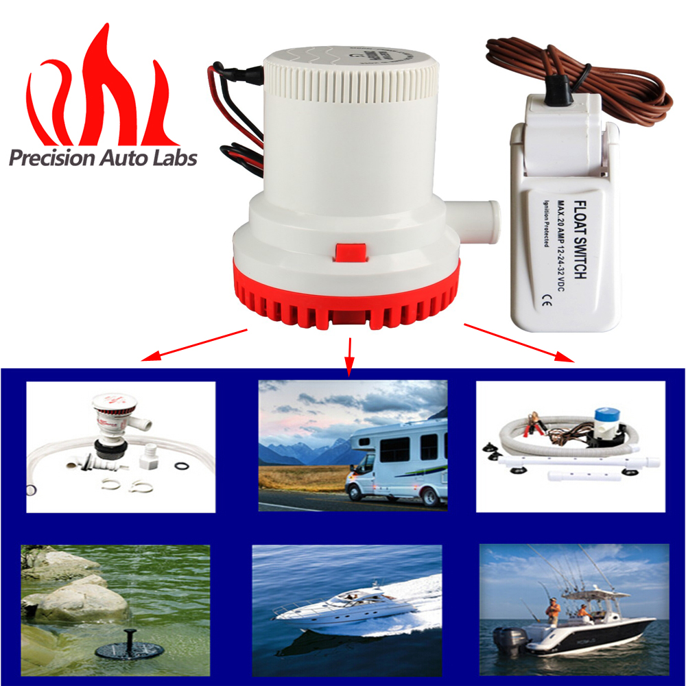 2000gph Boat Marine Bilge Pump Float Switch 12v Used In Rule Wiring Diagram Seaplane Micro Motor Homes Houseboat From Automobiles
