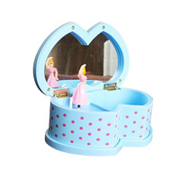 Classic With Mirror Dancing Girl Modern Music Box Great Wedding Gift Excellent Girl Figurines Cosmetic Mirror