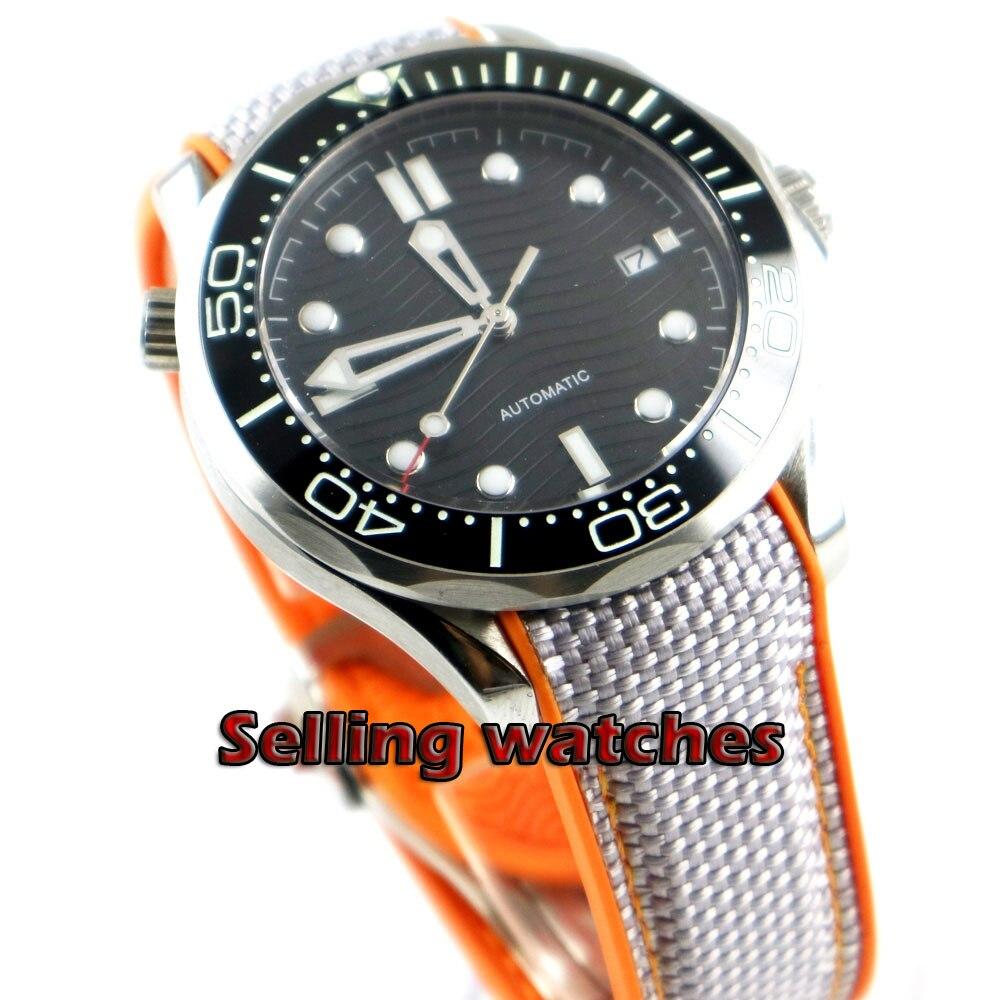 Luxury 41mm men's watch navy black dial super luminous saphire glass black Ceramic Bezel Automatic movement wrist watch men