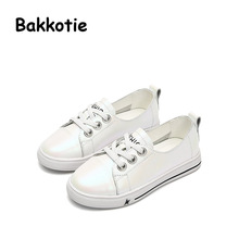 Bakkotie 2017 New Spring Autumn Fashion Child Genuine Leather White Shoe Baby Boy Leisure Sneaker Kid Brand Breathable Girl