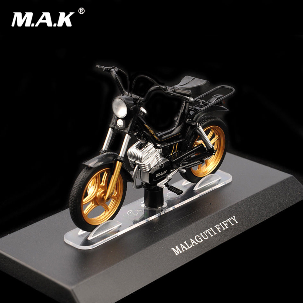 Cheap Kids toys 1/18 Diecast ALAGUTI FIFTY Black Motorcycle Electric Bike Motobike Model Toy блендер sakura sa 6206sv
