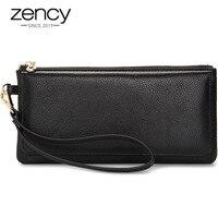 Zency 100 Genuine Cow Leather Long Style Women Wallet Quality Guarantee Ladies Clutch Purse Fashion Wristle