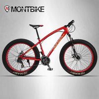 LOVELAUXJACK Mountain Bike Steel Frame 24 Speed Shimano Disc Brakes 26 X4 0 Wheels FatBike