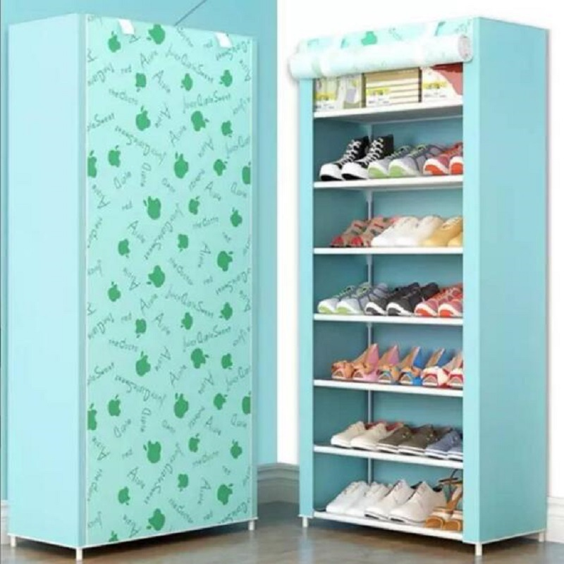 Новая Многоуровневая стойка для обуви, простая в сборке, домашняя Пыленепроницаемая Студенческая полка для обуви, экономичный шкаф для хра