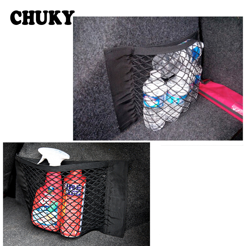 Car Trunk Box Storage Bag Mesh Net Bag For Hyundai Tucson I30 Solaris Creta Skoda Octavia 2 Fabia Renault Megane 2 3 Duster Clio