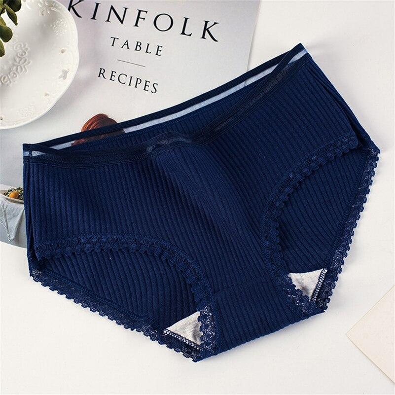 8 Color Panties for women cotton briefs ladies lace underwear sexy lingerie girl underpants famela casual panty plus size