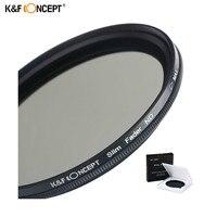 K & F KONZEPT 52mm 55mm 58mm 62mm 67mm 72mm 77mm 82mm schlank Fader Variable ND Objektiv-filter Einstellbar ND2 zu ND400 Neutral Density