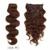 7A 100g 100% Virgem Clipe Onda Do Corpo Em Extensões Do Cabelo Humano Cabelo ondulado Mongolian Virgem Grampo Em Extensões Do Cabelo Humano Cabeça Cheia
