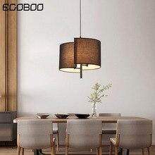 Modern LED Fabric Pendant lights for Living Dining Room Bedroom Stairs Bedside Restaurant Lighting Fixtures E14*3 Bulb
