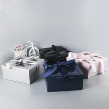 Creative Packaging Box Pvc Window Opening Square Cosmetics Lipstick Perfume Valentine's Birthday Gift Box