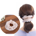 1 Pc Lace Elastic Hair Ropes Flower Hair Ties Scrunchies Hair Bands for Women Hair Accessories