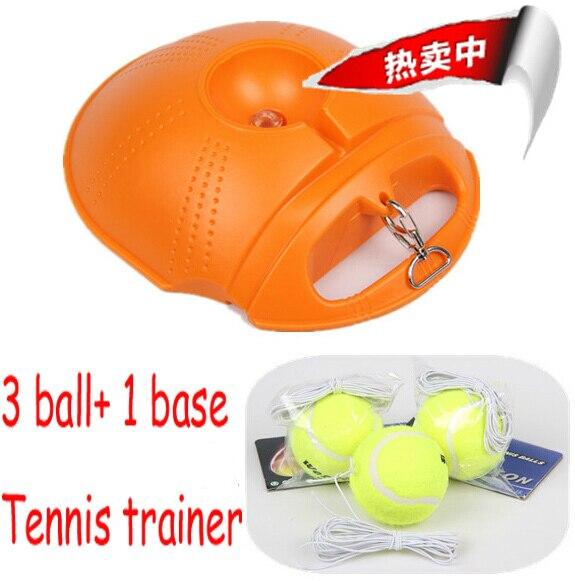 (3 כדור 1 בסיס) חדש טניס מאמן כדור אימון רכבת אחת בפועל כלי סט שותף למתחילים