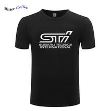 NEW Subaru STI logo men's T-shirt fashion cotton top brand clothing auto Tshirt