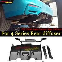 4 Series carbon fiber car rear Bumper lip spoiler diffuser for BMW F80 M3 F82 F83 M4 2013 18 Standard And Convertible SPM Styler