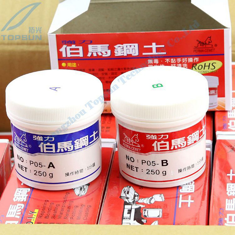 BURMAH P05 Epoxy Putty Steel Soil Perma cemet Fast Firm TYPE AB DIY Repairing Bonding Sealing